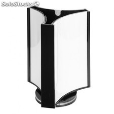 Stand display giratoire 3 faces 12,8x18,2 cm transparent ps