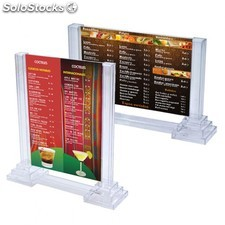 Stand display giratorio 3 caras 8x12 cm transparente ps
