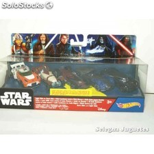 Star wars lote 5 coches escala 1/64 hot wheels coche miniatura escala