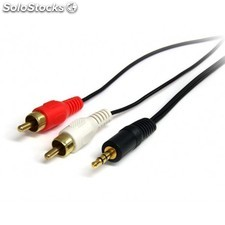 StarTech.com - 6ft 3.5mm - 2x RCA 1.8m 3.5mm 2 x RCA Negro cable de audio