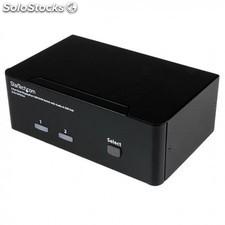 StarTech.com - Conmutador Switch KVM - 2 puertos USB 2.0 - Audio Vídeo