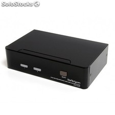 StarTech.com - Conmutador Switch KVM - 2 puertos USB 2.0 - Audio Vídeo DVI