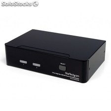 StarTech.com - Conmutador Switch KVM - 2 puertos - USB 2.0 - Audio Vídeo DVI de