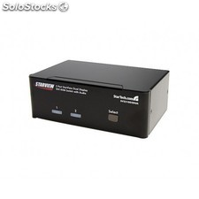 StarTech.com - Conmutador Switch KVM de 2 Puertos Doble Monitor DVI Audio 4