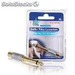 Stereo audio adapter 6.35 mm male - rca female silver