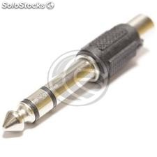 Stereo Audio Adapter 6.3mm TRS jack-to-male-female 1XRCA (AW06)