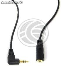 Stereo audio cable 3.5mm female to 3.5mm male angle 3 m (TW42)