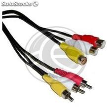 Stereo Audio Cable 5m + Video (3xRCA-m/h) (VB03)