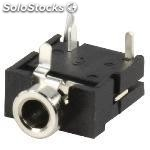 Stereo connector 3.5 mm female pvc black