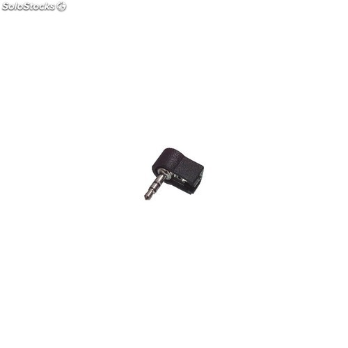 Stereo connector 3.5 mm male pvc black