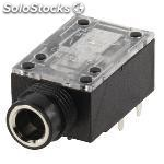 Stereo connector 6.35 mm female pvc black