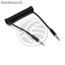 Stereo minijack audio cable male male 1m 3.5 Flexible curly (TV79)