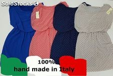 Stock de robes femme made ​​in Italy 100% coton