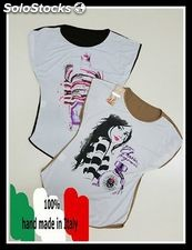 Stock der T-Shirt der Frau Made in Italy in 2 Farben