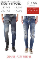 Stock Jeans for Teens F/W