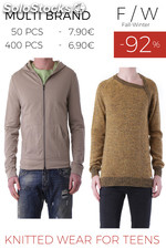 Stock Knitted Wear for Teens F/W