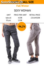 Stock Pantaloni Small sizes Sexy Woman donna
