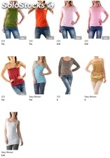 Stock T-Shirt Top Donna Primavera/Estate