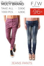 Stock Woman's Jeans Pants F/W
