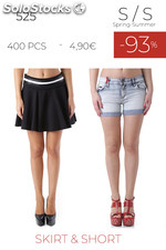 Stock woman skirt and short s/s