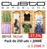 Stocks ropa marca Custo