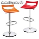 Stool diavoletto - mod. 22diav - chrome-plated steel frame - recyclable