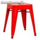 Stool-mod. bt18-enamelled metal structure-seat height cm 45-stackable up to 4