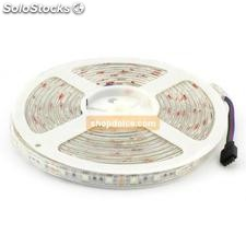 striscia led 5050 60 led/mt ip65 12 volt rgb impermeabile 5 mt 10304