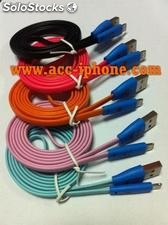 Strong various colors braided fabric usb cable for iphone 5