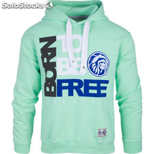 Sudadera born to be free - green - the indian face - 8433856057447 - 02-061-01-s