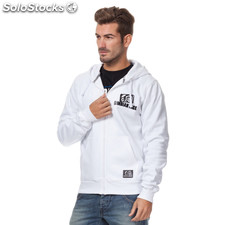 Sudadera indian basic zipper blanca
