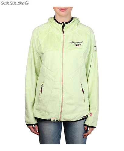 sudadera mujer geographical norway verde (32029)