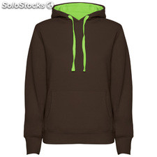 Sudadera Mujer m chocolate/verde oasis casual collection invierno