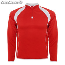 Sudadera seul color: rojo/blanco