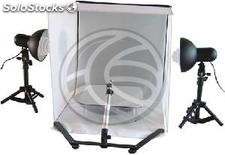 Suitcase 50cm portable photo studio with lights and tripod B (EW63)