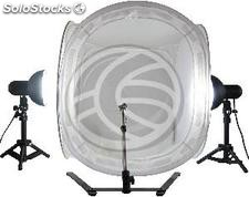 Suitcase portable photo studio with lights and tripod 40cm (EW61)