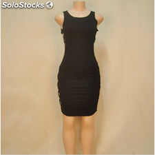 Summer Sides Hole Sleeveless Black Tunic Stretchy Party Dresses Sexy Night Club