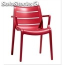 Sunset chair-mod. 2329-reinforced polymer structure-for indoor and outdoor
