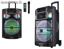 Sunstech - altavoz trolley 60W rms massive-S30 luces micro
