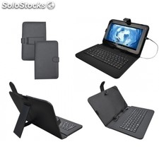 "Sunstech - funda tablet 9"" con teclado KEY9BK negro"