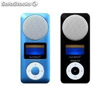 Sunstech - MP3 4GB sedna azul altavoz