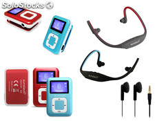Sunstech - pack MP3+auricular bt 4GB dedalo rojo