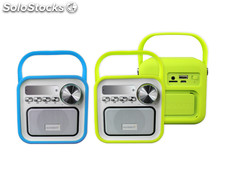 Sunstech - radio altavoz retro RPBT420 verde bluetooth