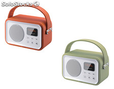 Sunstech - radio altavoz RPBT450 verde bluetooth