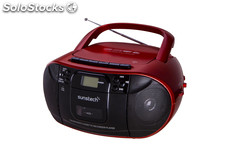 Sunstech - radio CD CXUM52RD cassette usb