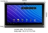 "super delgado 7""tablet pc android4.0 capacitiva a13 512mb 4gb camara tf mini usb"