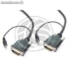 Super DVI-D cable with audio jack plug 3.5 mm male 3 m (VZ12)