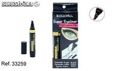 super eyeliner negro intenso 24h tres grosores leticia well