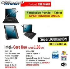Super Portátiles LENOVO ThinkPad X60 Intel core duo Bateria Nueva