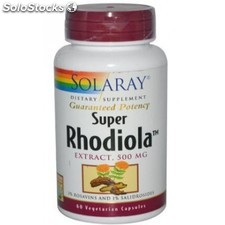 Super rhodiola 60 cápsulas vegetales 500mg solaray